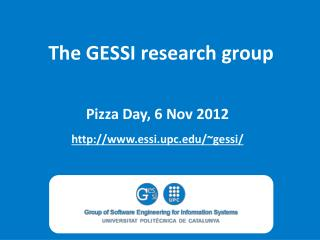 The GESSI research group