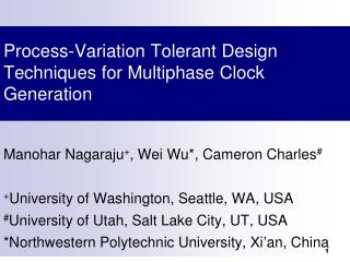 Process-Variation Tolerant Design Techniques for Multiphase Clock Generation