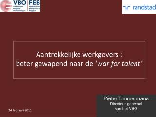 Pieter Timmermans Directeur-generaal van het VBO