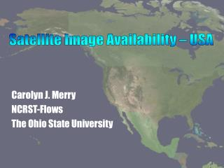 Carolyn J. Merry NCRST-Flows The Ohio State University