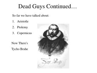 Dead Guys Continued…