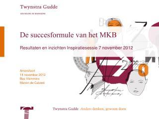 De succesformule van het MKB
