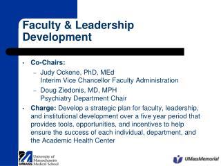 Faculty  Leadership Development