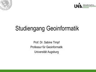 Studiengang Geoinformatik