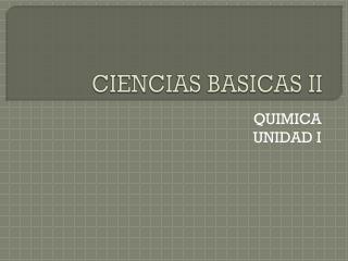 CIENCIAS BASICAS II