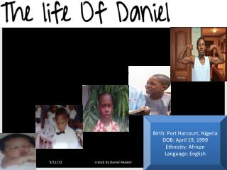 Birth: Port Harcourt, Nigeria DOB: April 19, 1999 Ethnicity: African Language: English