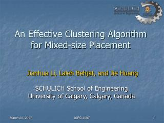 An Effective Clustering Algorithm for Mixed-size Placement