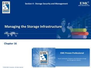 Managing the Storage Infrastructure