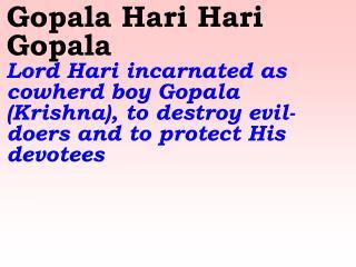 Old 559 New 656 Gopala Hari Hari Gopala