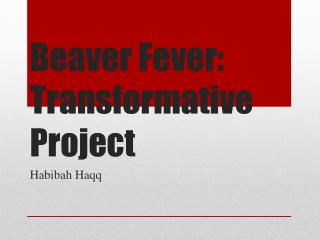 Beaver Fever: Transformative Project