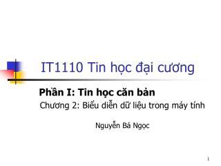 IT1110 Tin học đại cương