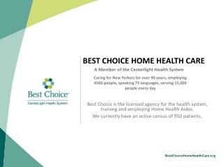 BEST CHOICE HOME HEALTH CARE