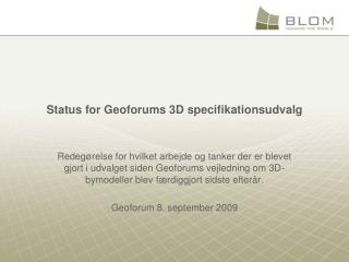 Status for Geoforums 3D specifikationsudvalg