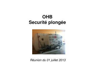 OHB Securité plongée