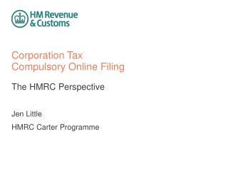 Corporation Tax Compulsory Online Filing