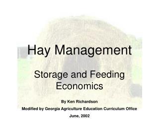 Hay Management