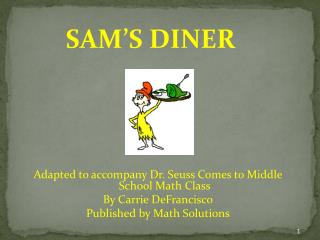 Adapted to accompany Dr. Seuss Comes to Middle School Math Class By Carrie  DeFrancisco