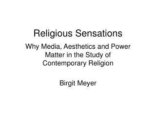 Religious Sensations