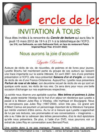 INVITATION À TOUS