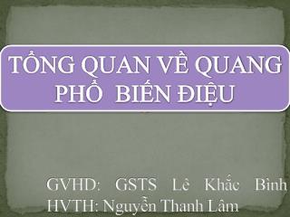 GVHD: GSTS Lê Khắc Bình HVTH: Nguyễn Thanh Lâm