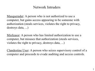 Network Intruders