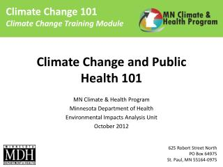 Climate Change and Public Health 101