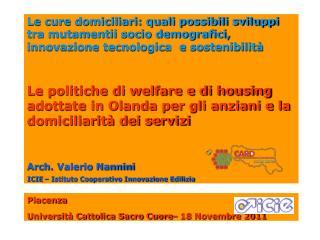 Piacenza  Università Cattolica Sacro Cuore– 18 Novembre 2011