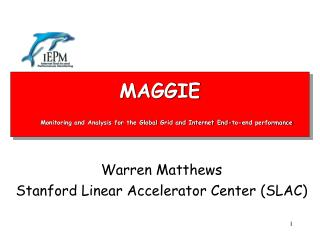 MAGGIE Monitoring and Analysis for the Global Grid and Internet End-to-end performance