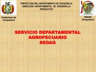 PREFECTURA DEL DEPARTAMENTO DE CHUQUISACA DIRECCI Ó N  DEPARTAMENTAL  DE  DESARROLLO PRODUCTIVO