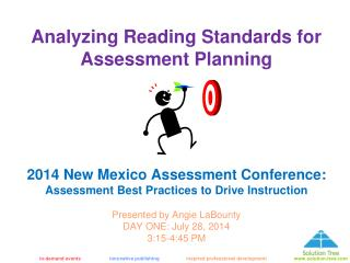 Analyzing Reading Standards for Assessment Planning