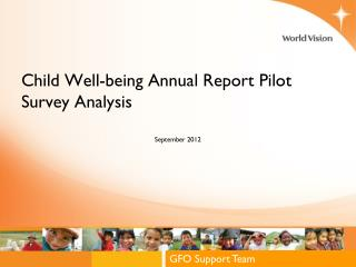 Child Well-being Annual Report Pilot Survey Analysis
