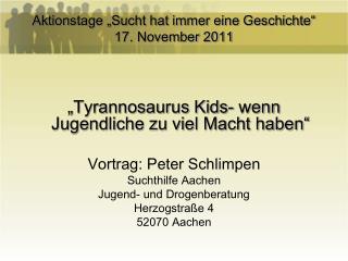 """Aktionstage """"Sucht hat immer eine Geschichte"""" 17. November 2011"""