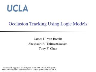 Occlusion Tracking Using Logic Models
