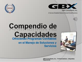 Ofreciendo Programas Confiables e n el  Manejo  de  Soluciones y Servicios