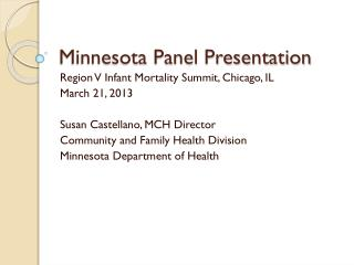 Minnesota Panel Presentation