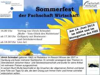 Sommerfest  der Fachschaft Wirtschaft