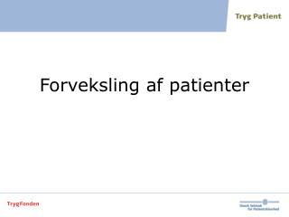 Forveksling af patienter