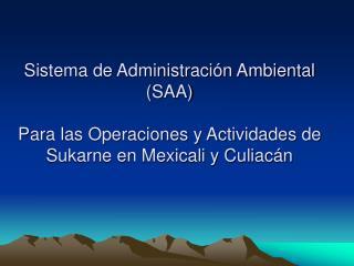 ¿Qué es un Sistema  de Administración Ambiental?