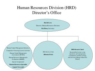Human Resources Division (HRD) Director's Office