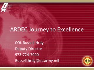 ARDEC Journey to Excellence