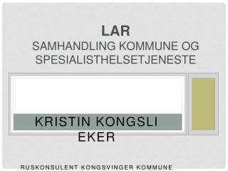 LAR samhandling kommune og spesialisthelsetjeneste