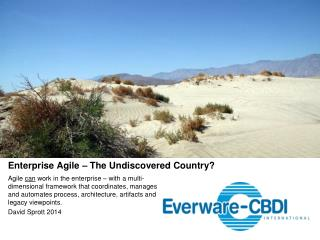 Enterprise Agile – The Undiscovered Country?