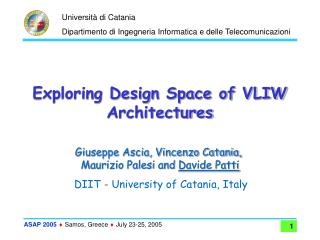 Exploring Design Space of VLIW Architectures
