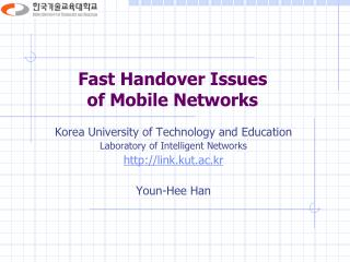 Fast Handover Issues  of Mobile Networks