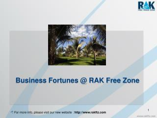 Business Fortunes @ RAK Free Zone
