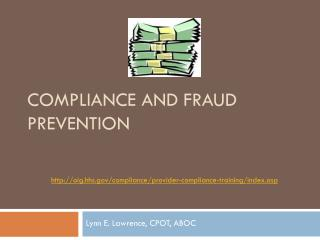 Compliance and Fraud Prevention