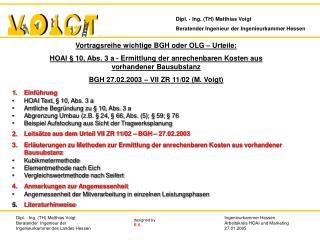 1.Einführung HOAI Text, § 10, Abs. 3 a Amtliche Begründung zu § 10, Abs. 3 a