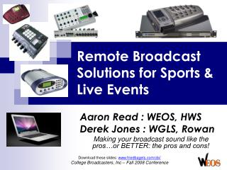Remote Broadcast Solutions for Sports & Live Events