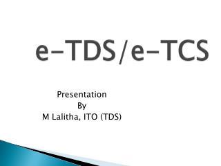 e-TDS/e-TCS