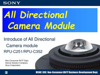All Directional  Camera Module